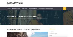 Réalisation du site www.apprendre-le-khmer.com