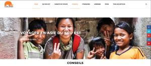 Réalisation du site www.ici-laos-cambodge.fr