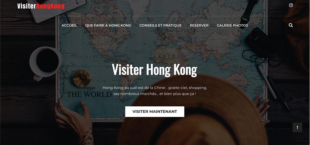 Réalisation du site www.visiter-hong-kong.fr